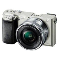 【あす楽】 ソニー α6000 パワーズームレンズキット シルバー (Sony ミラーレス一眼カメラ)