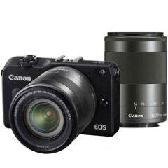 【送料無料】【あす楽】 キヤノン EOS M2 ダブルズームキット ブラック (Canon ミラーレス一眼...