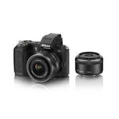 【ショッピングクレジット20回まで分割金利手数料無料】ニコン Nikon1 V2 ダブルレンズキット ...