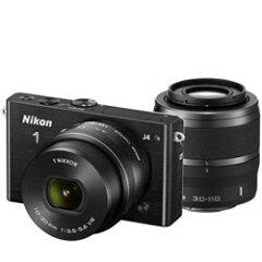 【送料無料】ニコン Nikon1 J4 ダブルズームキット ブラック (Nikon ミラーレス一眼カメラ)