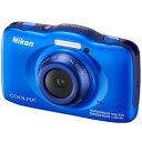 【あす楽】 ニコン COOLPIX S32 BL ブルー (Nikon コンパクトデジタルカメラ)