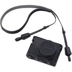 カシオ 本革ジャケットケース/ネックストラップセット EJC-10BK ブラック 《11月29日発売予定》