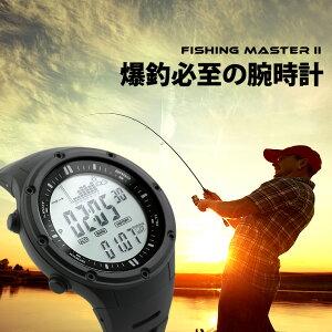アメリカ製のセンサー搭載 デジタル スポーツ ウォッチ 腕時計 メンズ フィッシングアラーム ストームアラーム ブランド 【 LAD WEATHER ラドウェザー 】 釣れる時間をお知らせする腕時計 高度計 気圧計 温度計