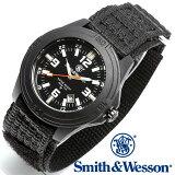 [正規品] スミス&ウェッソン Smith & Wesson ミリタリー腕時計 SOLDIER WATCH NYLON STRAP BLACK SWW-12T-N [あす楽]