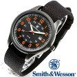 [正規品] スミス&ウェッソン Smith & Wesson ミリタリー腕時計 CADET WATCH BLACK/ORANGE SWW-369-OR [あす楽] [ラッピング無料] [送料無料]