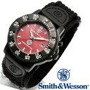 [正規品] スミス&ウェッソン Smith & Wesson ミリタリー腕時計 455 FIRE FIGHTER WATCH RED/BLACK SWW-455F [あす楽] [ラッピング無料] [送料無料]