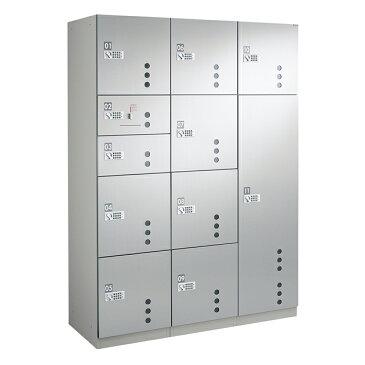 ダイケン 宅配ボックスBB4型 プッシュボタン錠タイプ(可変式)ステンレス貼扉 TBX-BB4N+S+L 3列11ボックス(捺印付)