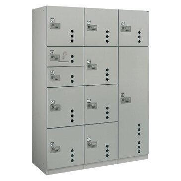 ダイケン 宅配ボックスCC3型 ダイヤル錠タイプ(可変式) スチール扉 TBX-CC3N+S+L 3列11ボックス(捺印付)
