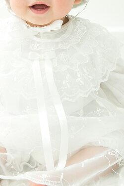 【セレモニードレスベビードレス新生児赤ちゃんベビー男の子女の子出産祝い2wayオーガンジーレースお宮参り退院お祝いギフト衣装かわいい可愛いオールシーズン年中素材】