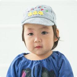 【2017年生産商品】布帛帽子(ヒッコリー柄)【46cm〜48cmサイズ】【ネコポス便対応】