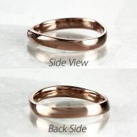 ダイヤモンドリングダイヤリングカーブウェーブK1818KピンクゴールドK18PGマリッジリング指輪結婚指輪【送料無料】【コンビニ受取対応商品】