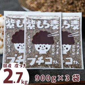 \ポイント10%還元/国産紫もち麦3kg(1kg3袋)ダイシモチ皮付きアントシアニン腸内環境食物繊維※レビューで更に1袋