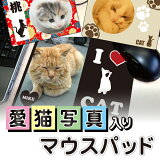 【 ペット 名入れ 写真入り 無料 猫 マウスパッド】マウスパッド デスク仕事 猫用品 猫グッズ 猫雑貨 ギフト プレゼント