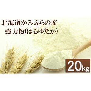 【ふるさと納税】自社農園産小麦(はるゆたか)の強力粉20kg≪業務用袋≫ 【お米】
