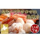 【ふるさと納税】なまら美味い!これがサロマの海鮮丼!7種(2人用) 【魚介類・魚貝類・加工食品・マグロ・サーモン・カニ・ホタテ・エビ】