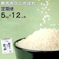【ふるさと納税】減農薬栽培 ひとめぼれ 無洗米 5kg 定期便 12ヶ月 新米 令和2年産