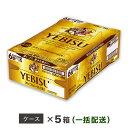 【ふるさと納税】ヱビスビール 地元名取工場産 (350ml×24本入を5ケースお届け)同時お届け
