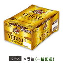 【ふるさと納税】ヱビスビール 地元名取工場産(500ml×24本入を5ケースお届け)同時お届け