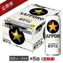 【ふるさと納税】地元名取産 サッポロビール黒ラベル 500ml缶×24本(1ケース)を5回お届け