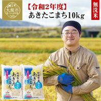 【ふるさと納税】60P9204 【令和2年産】秋田県産あきたこまち(無洗米)10kg
