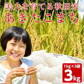 【ふるさと納税】A2402美人を育てる秋田米あきたこまち白米1kg×3袋