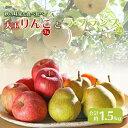 【ふるさと納税】大玉リンゴ 3玉 ラ・フランス 2玉 約1.5kg F2Y-2132