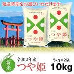 【ふるさと納税】山形県産つや姫精米5kg×2袋(10kg)