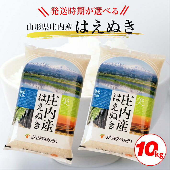新米「はえぬき」5kg×2袋(計10kg)令和元年産米