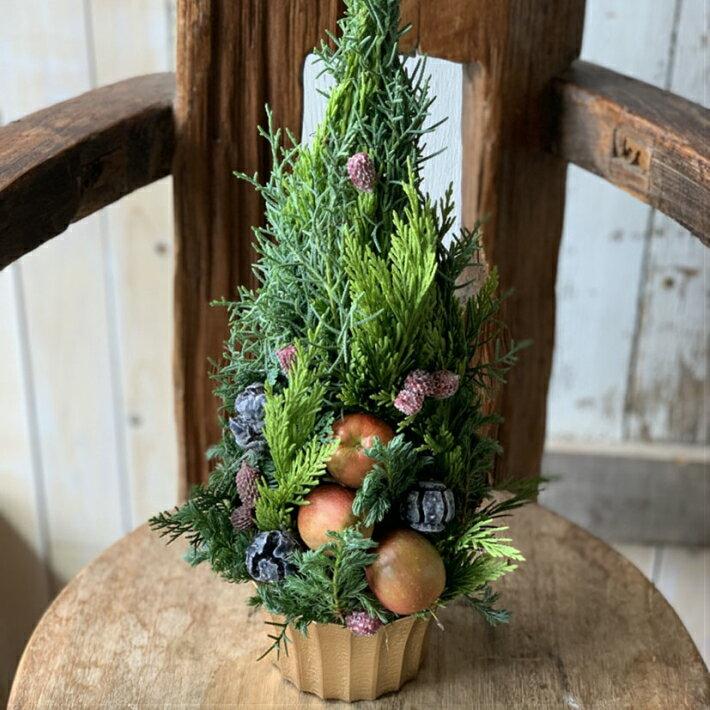 クリスマスツリーアレンジ「クリスマスキャロル」 11/20〜12/20にお届け