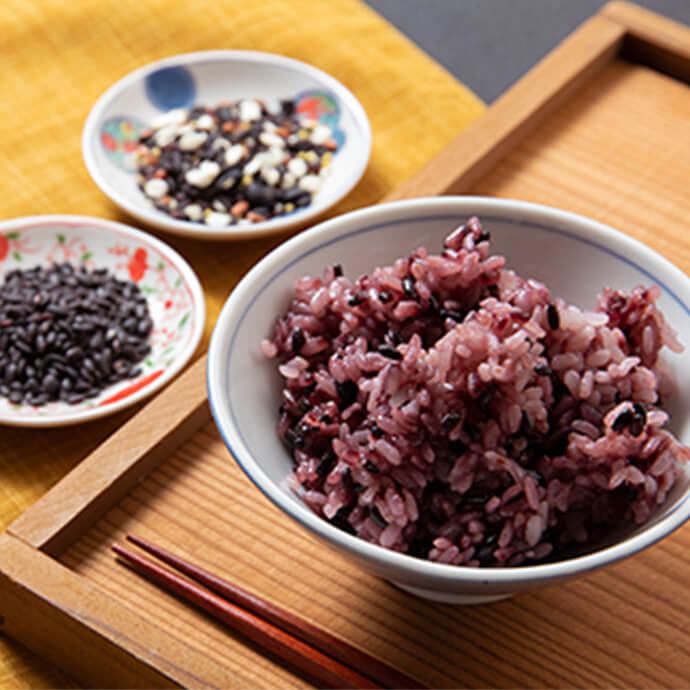 黒米お赤飯・黒米・薬膳五穀米のセット