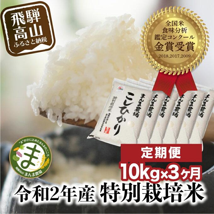 【ふるさと納税】  新米定期便 3ヶ月 飛騨こしひかり 10kg コシヒカリ 特別栽...