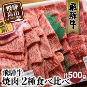 【ふるさと納税】飛騨牛ロース・もも焼肉用セット500g