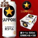 【ふるさと納税】b12-017 定期便 5回【サッポロ ビール】黒ラベル 500ml×24
