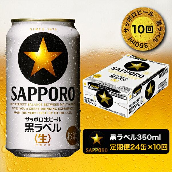ふるさと納税 b15-023 定期便10回 黒ラベルビール350ml×1箱×10回