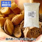 【ふるさと納税】小麦粉 パン用 国産小麦100% 10kg(2.5kg×4袋) H008-025