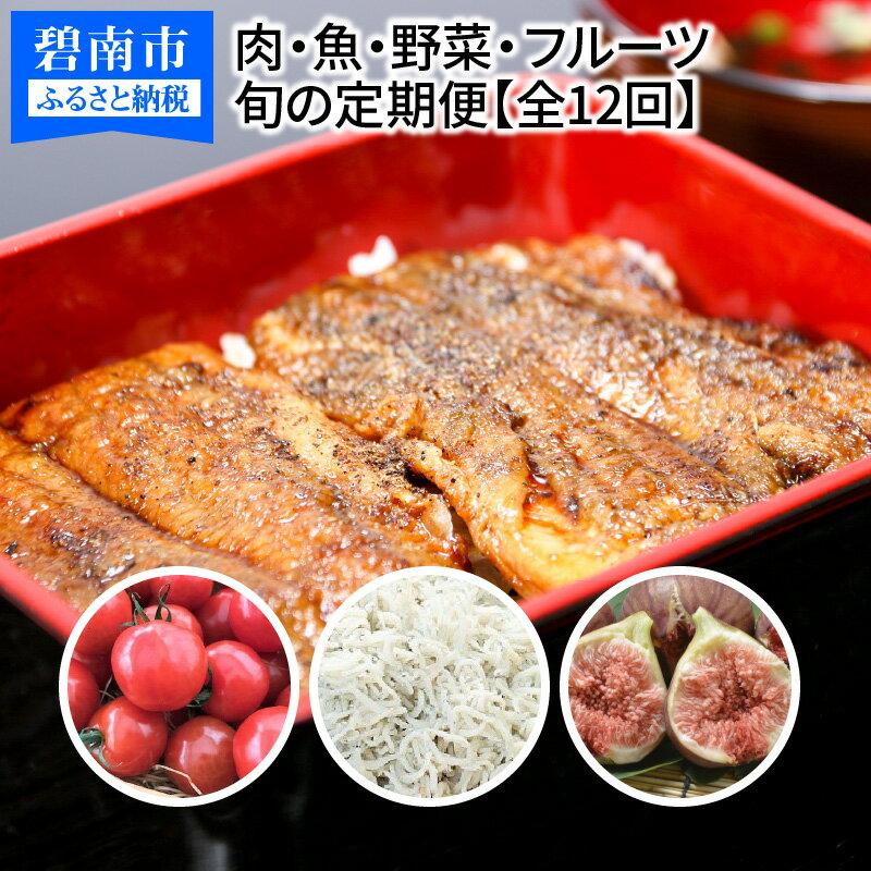 【ふるさと納税】肉・魚・野菜・フルーツすべて詰まった旬の定期便(全12回お届け) H028-022