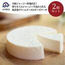 【ふるさと納税】丹後ジャージー牧場直送!搾りたてのジャージー牛乳から作る無添加クリームチーズのチーズケーキ2個セット