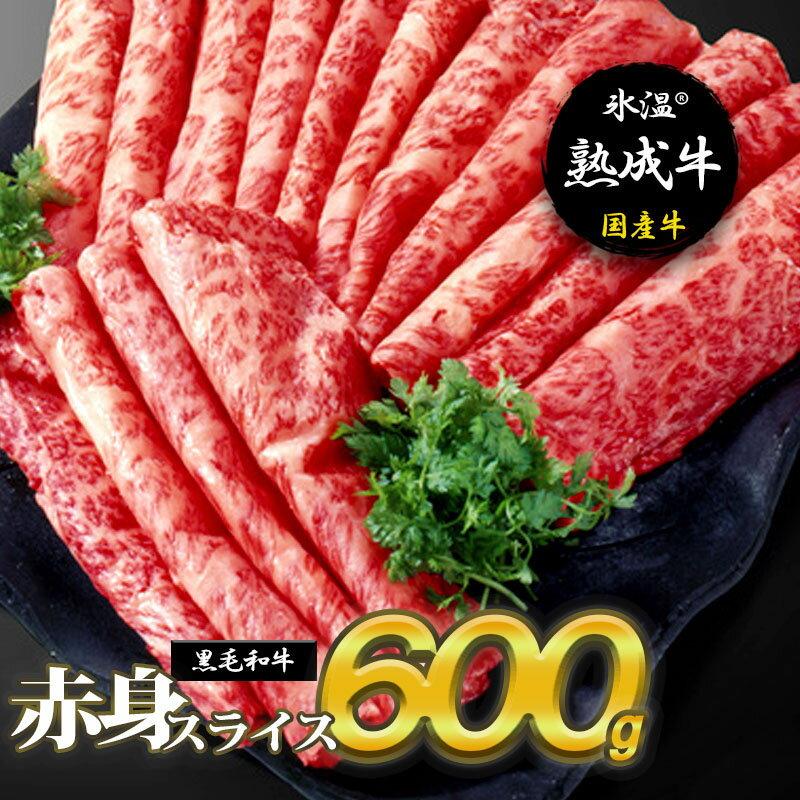 【ふるさと納税】氷温(R)熟成牛 赤身スライス600g【黒毛和牛】