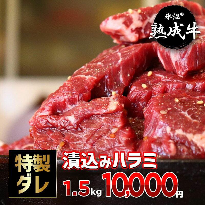 氷温(R)熟成牛 漬込みハラミ 訳あり1.5kg