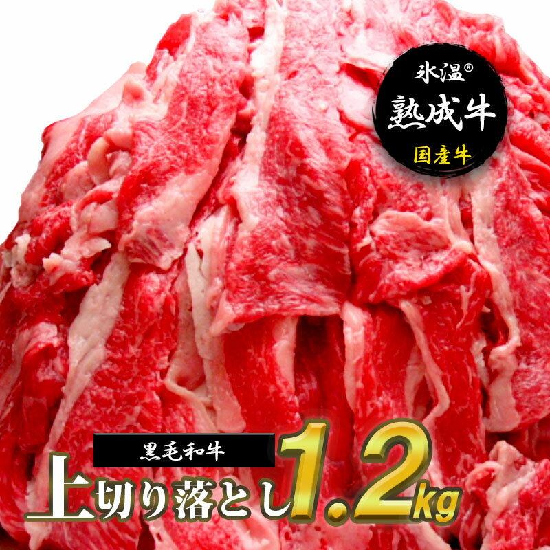 【ふるさと納税】氷温(R)熟成牛 上切り落とし1.2kg【黒毛和牛】