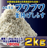 【ふるさと納税】【期間限定】しらす釜揚げ 2.0kg (+800g 増量)