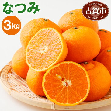 【ふるさと納税】 なつみ 3kg 柑橘 ナツミ 南津海 果物 くだもの フルーツ 福岡県産 送料無料 【2020年3〜4月頃から順次発送】