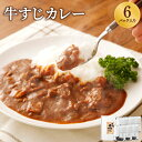 【ふるさと納税】牛すじカレー 200g×6パック 中辛味 コ