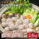 【ふるさと納税】自家製つみれ鍋セット(華豚、華味鳥)2,6kg 糸島……