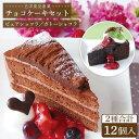 【ふるさと納税】冷凍ケーキ チョコレートケーキ2種計12個セ...