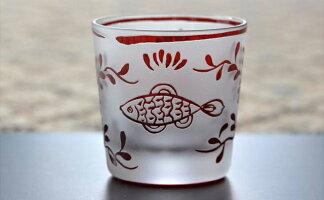 魚鳥紋 ぐい呑 香蘭社