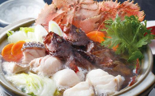 【ふるさと納税】天然くえと満腹地魚海鮮鍋