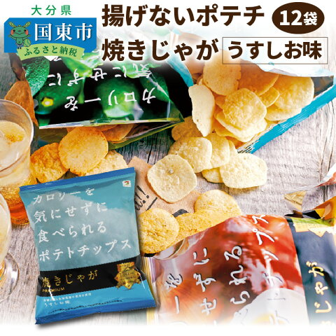 【ふるさと納税】揚げないポテチ焼きじゃが12袋/うすしお味