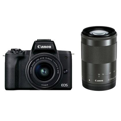 キヤノンミラーレスカメラ EOSKissM2・ダブルズームキット(ブラック)