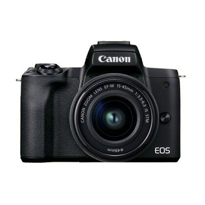 キヤノンミラーレスカメラ EOSKissM2・レンズキット(ブラック)